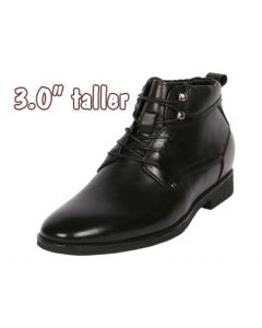 """JOTA Goods for Tall Men Dress Wraparound Ankle Boots 3"""" Height, CYB35"""