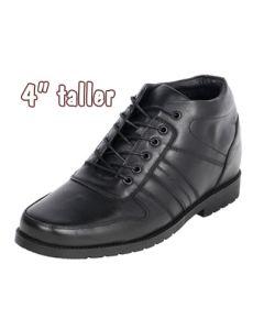"4"" Height Increasing Apron Toe Semi Dress Leather Shoe, CYD201"