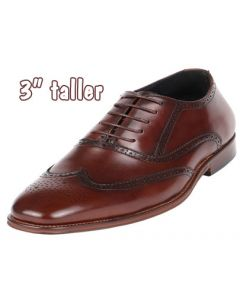 """SD011N, Shoes with high heels for men, 3"""" taller, CYD82BR"""