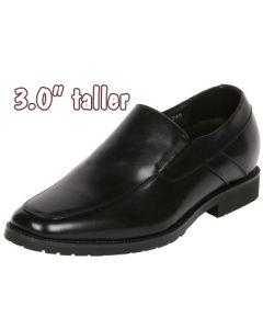 "Men's Jota Apron Toe Slip-On Shoe Increasing Hight 3"" Taller, CYD84"