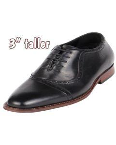"Men Shoes Heel Inside Adding Height 3"" CYD85BL"