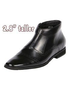 """Jota Midtown Cap Toe Zip Boot 2.8"""" Increasing Height, GKB22"""