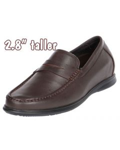 """Penny Leather Loafer Moccasin 2.8"""" Height Increasing, GKC32"""