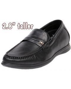 """Leather Loafer Moccasin 2.8"""" Height Increasing, GKC71"""