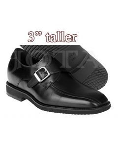 "Height Taller Shoes, Matafelo-3"" taller, Buckle"