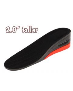 LiftKits Men's Hi-Tops Universal Height Increasing Insoles, Black/Red, One Size