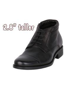 Height Enhancing Men's Leather Chukka Semi Dress Boot, JWB518BL