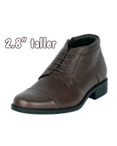 "2.8"" Height Enhancing Men's Leather Chukka Semi Dress Boot, JWB518BR"