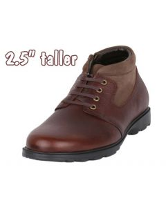 """The Men's Height Leather Boot To Enrich Short Height By 2.5"""" Tall, JWB519"""