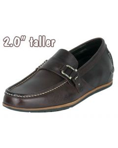 """Men Height Sharp Exalt In Loafer Style 2"""" Tall Shoes By Jota, JWC507BR"""