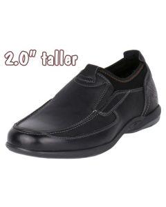 "Fashion Slip-on Shoe Comfort & Versatility Height Elevation 2"" Tall JWC508BL"