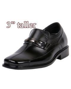 "Comfy Loafer Gentlemen Shoes To Increase & Looking 3"" Taller, KL602 (EE)"
