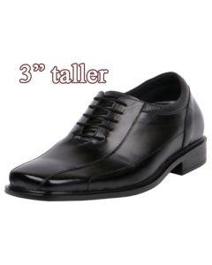 Comfortable Lightweight Short Men Semi Casual Dress Wide Shoes 3 Inch Tall,  KL603 (EE)