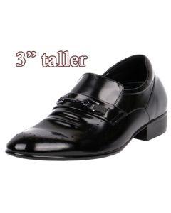"""Comfort Light Elevator Shoes Loafer Work, Dress Formal Occasions 3"""" Tall KL613 (EE)"""