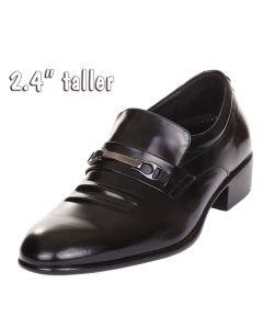"Men Luxury Light Elevator Shoes Loafer Work, Dress Formal Occasions 2.4"" Tall KL9640"