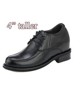 KN71, 4 Inch Elevator  Business Tall Shoes Gentlemen's Choice, Semi Gloss