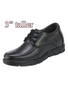"""KNC52, Comfortable Elevator Apron Derby Mens Walk Shoes Series Semi Dress and Casual, 3"""" Tall"""