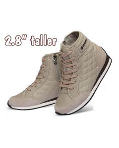 """KP321BE, Height Increasing Women Fashion Sneakers High Top 2.8"""" Tall"""