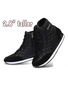 """KP321BL, Height Elevator Women Fashion Sneakers High Top 2.8"""" Tall"""