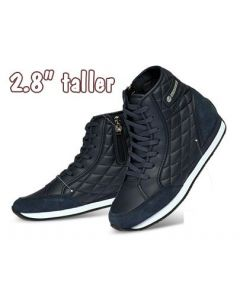 """KP321NA, Women Fashion Sneakers Wedges High Top Lace up Hidden Heel 2.8"""" Tall"""
