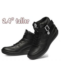 """KP334BL, Teenage's Fashion Height Increasing Elevator Shoes 2.4"""" Look Taller"""