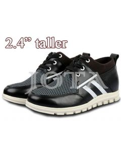 """Elevator Shoes Sneakers, 2.4"""" Tall"""