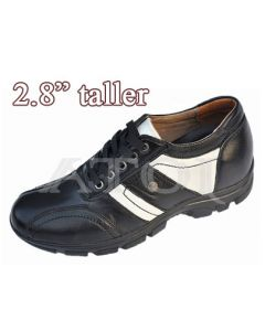 """SKC06, Bicycle Toe Casual Shoes, 2.8"""" Height Increasing"""