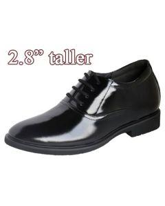 """SKD131, Formal Tuxedo Dress Shoes Plain Toe, 2.8"""" Height Taller"""
