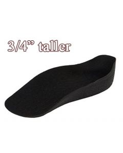 """Height Increasing Insoles for Shoes & Socks, 3/4"""" Tall"""