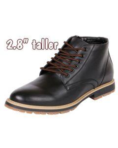 Side Zipper Semi Dress Ankle Boots for Men with Hidden High Heels, TB7005
