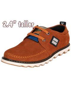 "Campus Outdoor Life Men's Suede Casual Height 2.4"" Increasing Shoe"