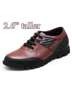 """TC030,  Man Height Casual Shoes Comfy Golden Make Look 2.6"""" Taller"""