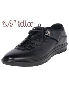 Men's Outdoor Height Elevator Tennis Black Shoe 2.4 Inch Tall, TC562