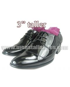 """TX9996, Elevator tuxedo shoes with lifts-3"""" taller"""