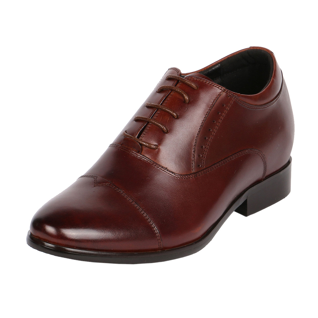 Brown Cap Toe for Height 3