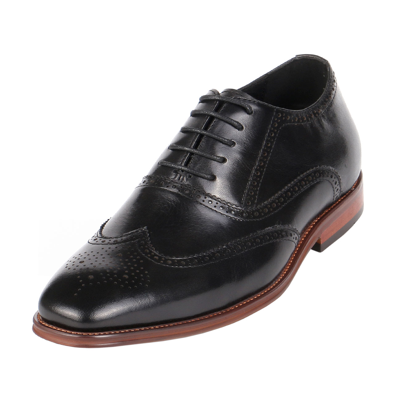Semi-Brogue Height Increasing Gentlemen Shoes 3