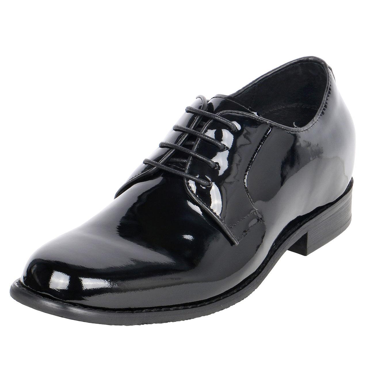 High Gloss Men's Uniform Height Increasing Dress Shoes 3