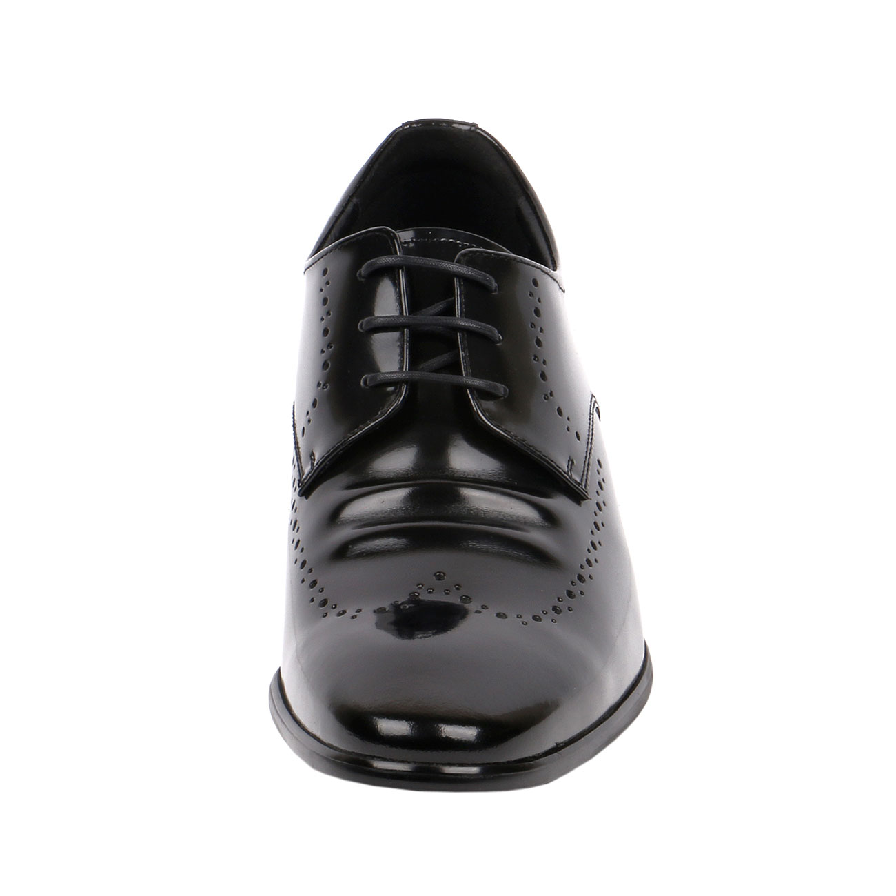 Fusion Wingtip Derby Style Decorative Punching Gentlemen Glossy Leather with Elongated Pointy JW501-2