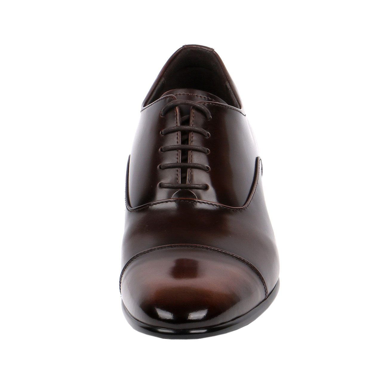 Classic A Cap-Toe Oxford Shoe With Two Tone Brown Semi Glossy Formal, Elegant & Dressy - Eindrof-2