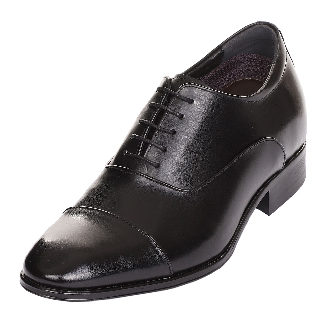 Classic A Cap-Toe Oxford Shoe With A Semi Glossy Formal, Elegant & Dressy-1