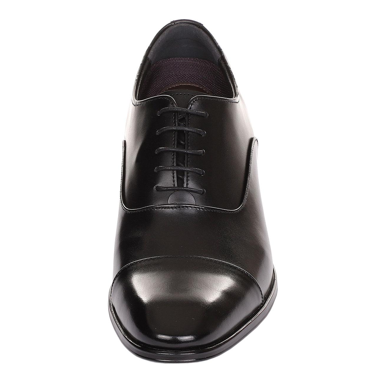 Classic A Cap-Toe Oxford Shoe With A Semi Glossy Formal, Elegant & Dressy-1