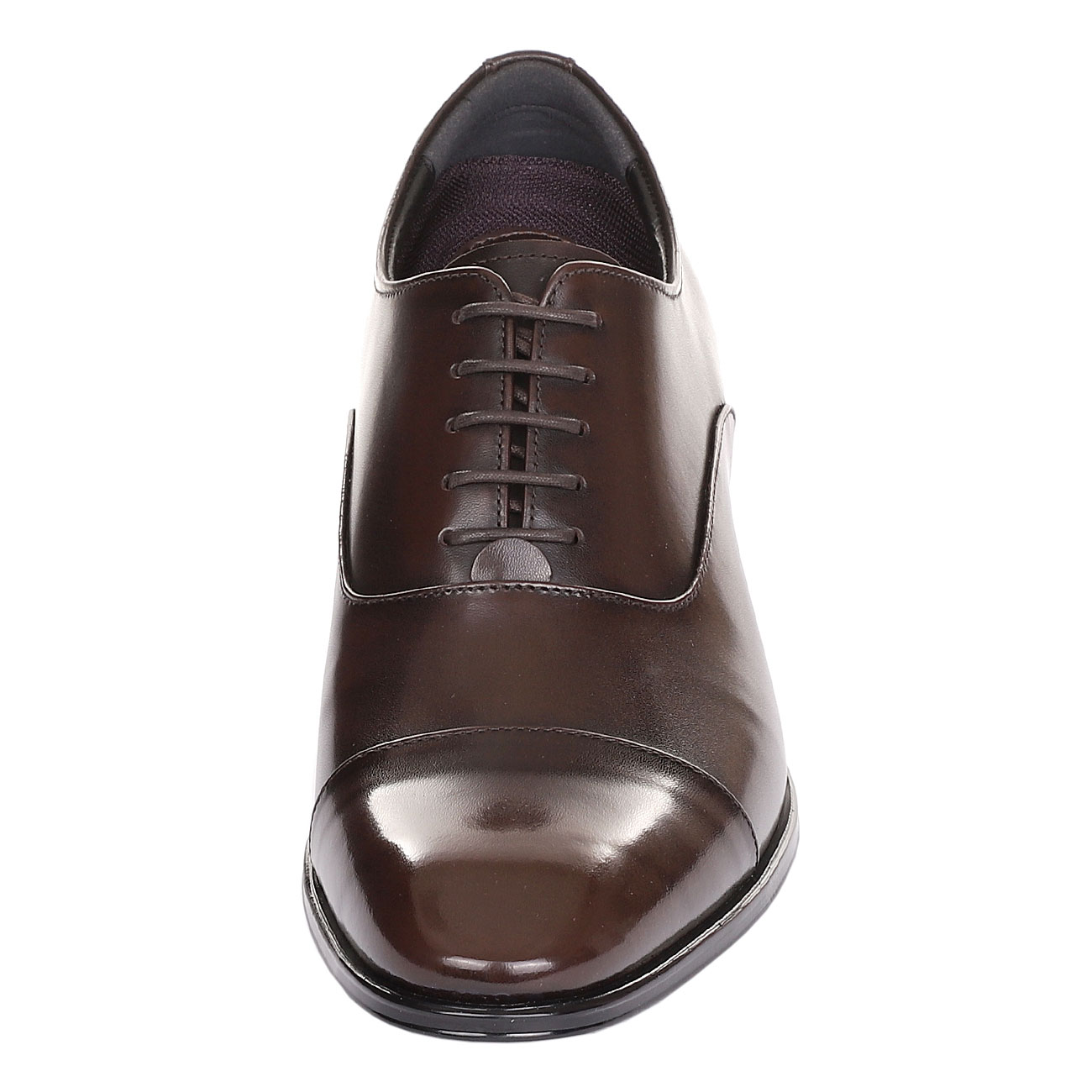 Brown Fusion Wingtip Derby Punching Gentlemen Leather Dress