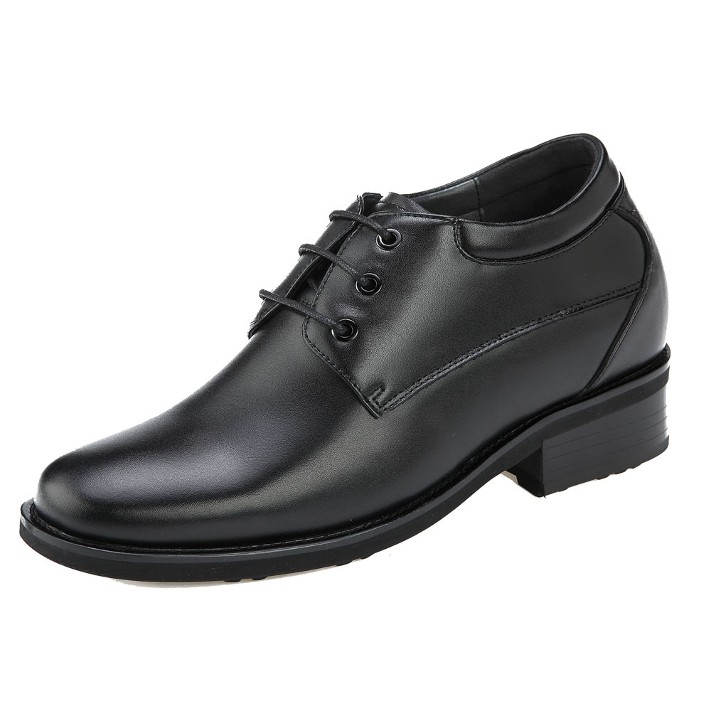 KN41, Plain Toe Derby Semi Gloss Shoes Height Increasing Innovation-1