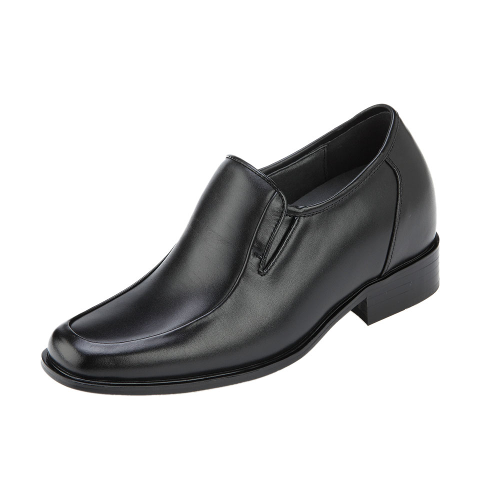 KN81, 3.2 Inch Elevator Slip On Loafer Shoes Escorting Men Business Attire, Semi Gloss-1