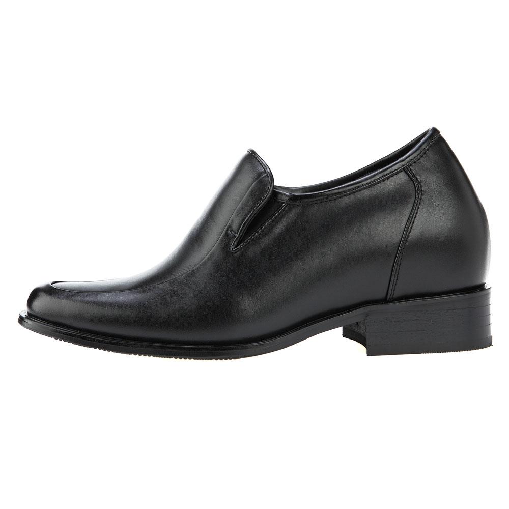 KN81, 3.2 Inch Elevator Slip On Loafer Shoes Escorting Men Business Attire, Semi Gloss-2