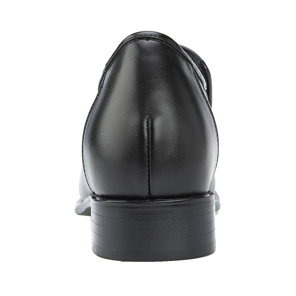 KN81, 3.2 Inch Elevator Slip On Loafer Shoes Escorting Men Business Attire, Semi Gloss-4