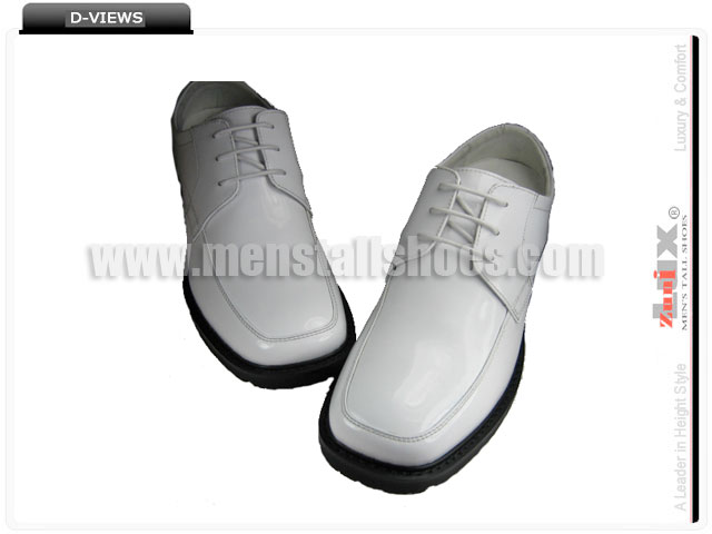 White tuxedo shoes for height