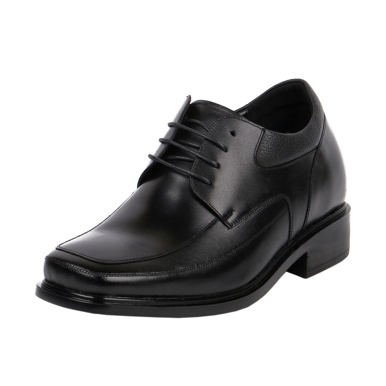 KL600, Men Black Dress Square Shoe Height lighting You for Success to the Job Interview-1