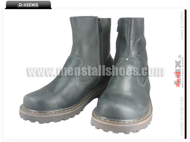 Leather elevated boots