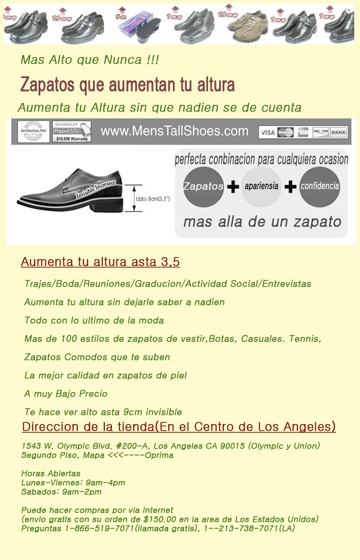 Elevator Shoes-Height Increasing Shoes-Tall Shoes for Spanish